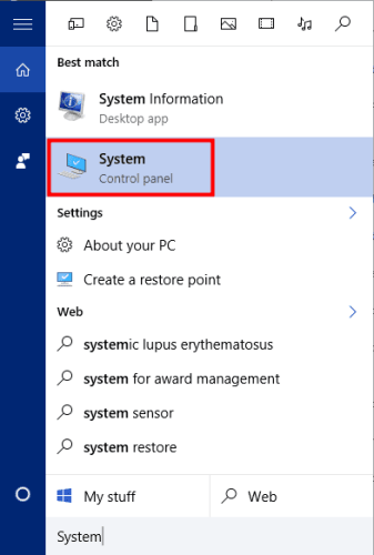 open System window