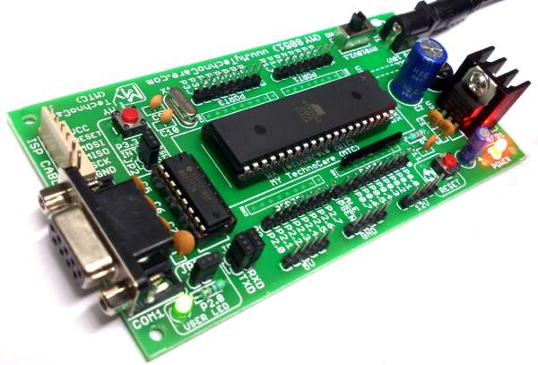 8051 Development Board Microcontroller Project Low Cost Development Board with MAX232 & AT89S52 IC Support AT89S51,AT89S52, P89V51RD2, etc 40 Pin DIP 8051 IC | Full development KIT MY8051 Small Development Board Project Board MY TechnoCare www.MyTechnocare.com