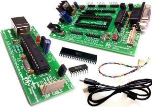8051 Development Board With USB Programmer,MAX232,Atmel AT89S52 IC Microcontroller Project Kit MY TechnoCar