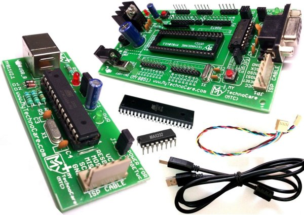 8051 Development Board With USB Programmer,MAX232,Atmel AT89S52 IC Microcontroller Project Kit MY TechnoCar