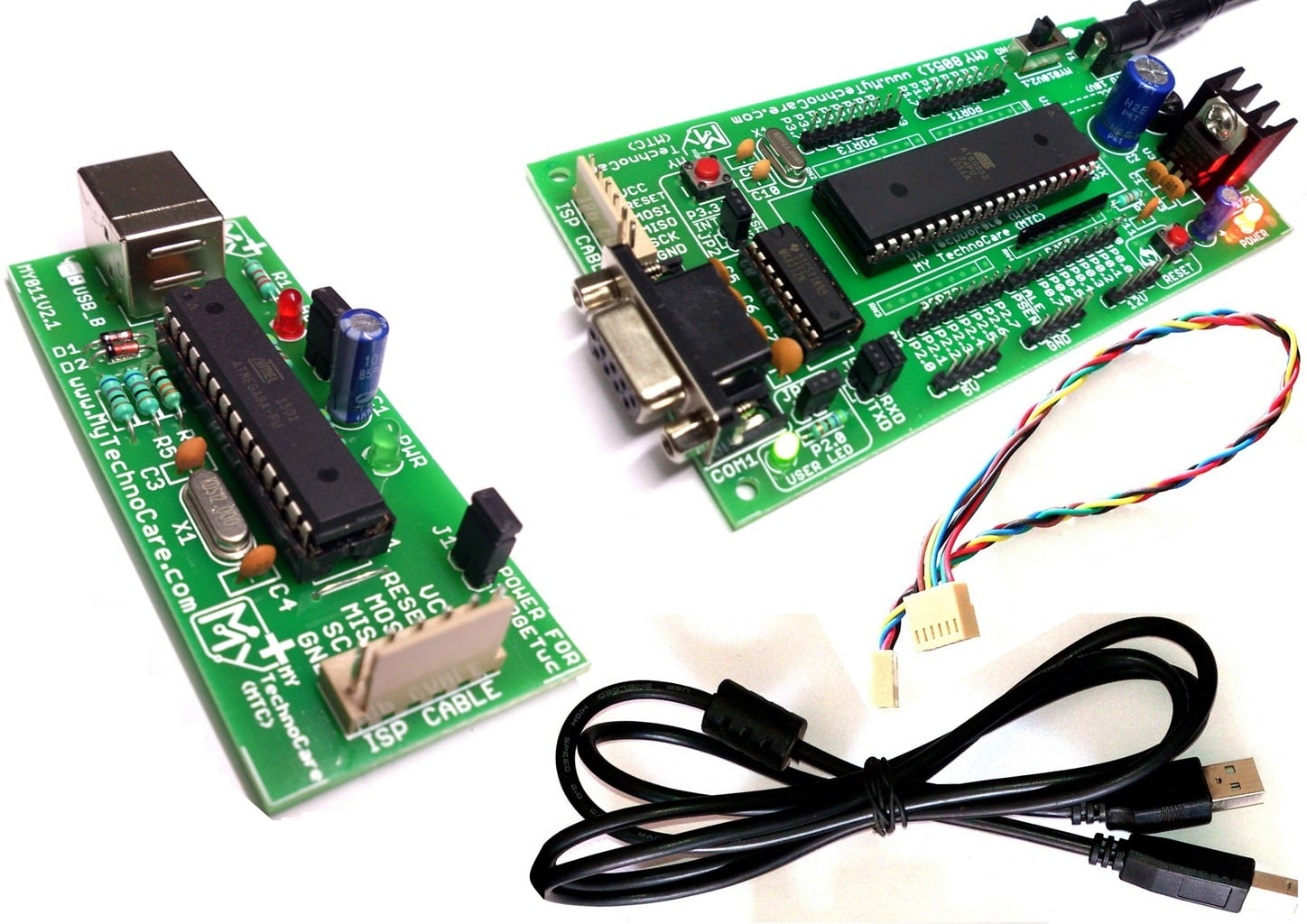 8051 Development Board With Usb Programmermax232atmel At89s52 Ic Microcontroller Project Kit Max 232 Circuit Schematic Working Gsm Modem Pc Serial Port Developement Max232 Asp Programmer My Technocare