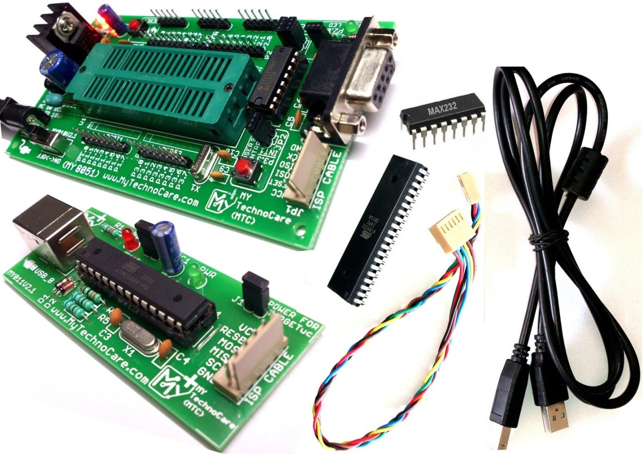8051 Development Board With Programmer My Technocare Circuit Diagram Of Zif Socket Max232 Atmel At89s52 Ic Project