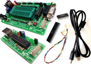 8051 Development Board with Programmer with ZIF Socket MAX232 Atmel AT89S52 IC, Project Board 8051-AVR USB asp Programmer MY TechnoCare
