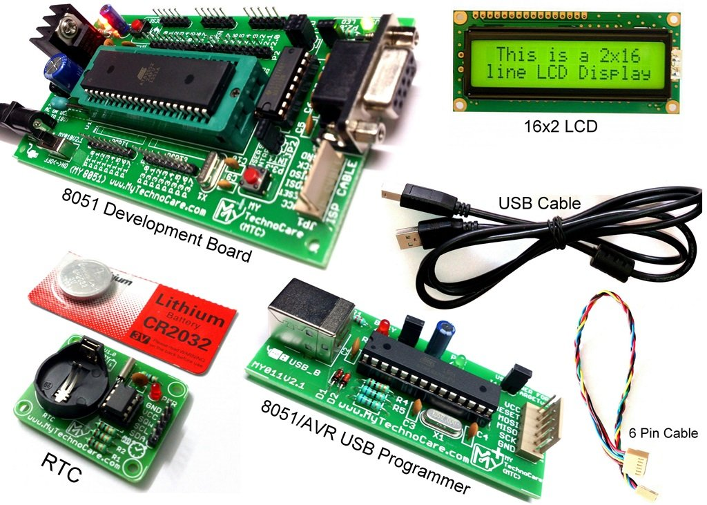 8051 Microcontroller Tutorial Board | Programming Kit | MY TechnoCare