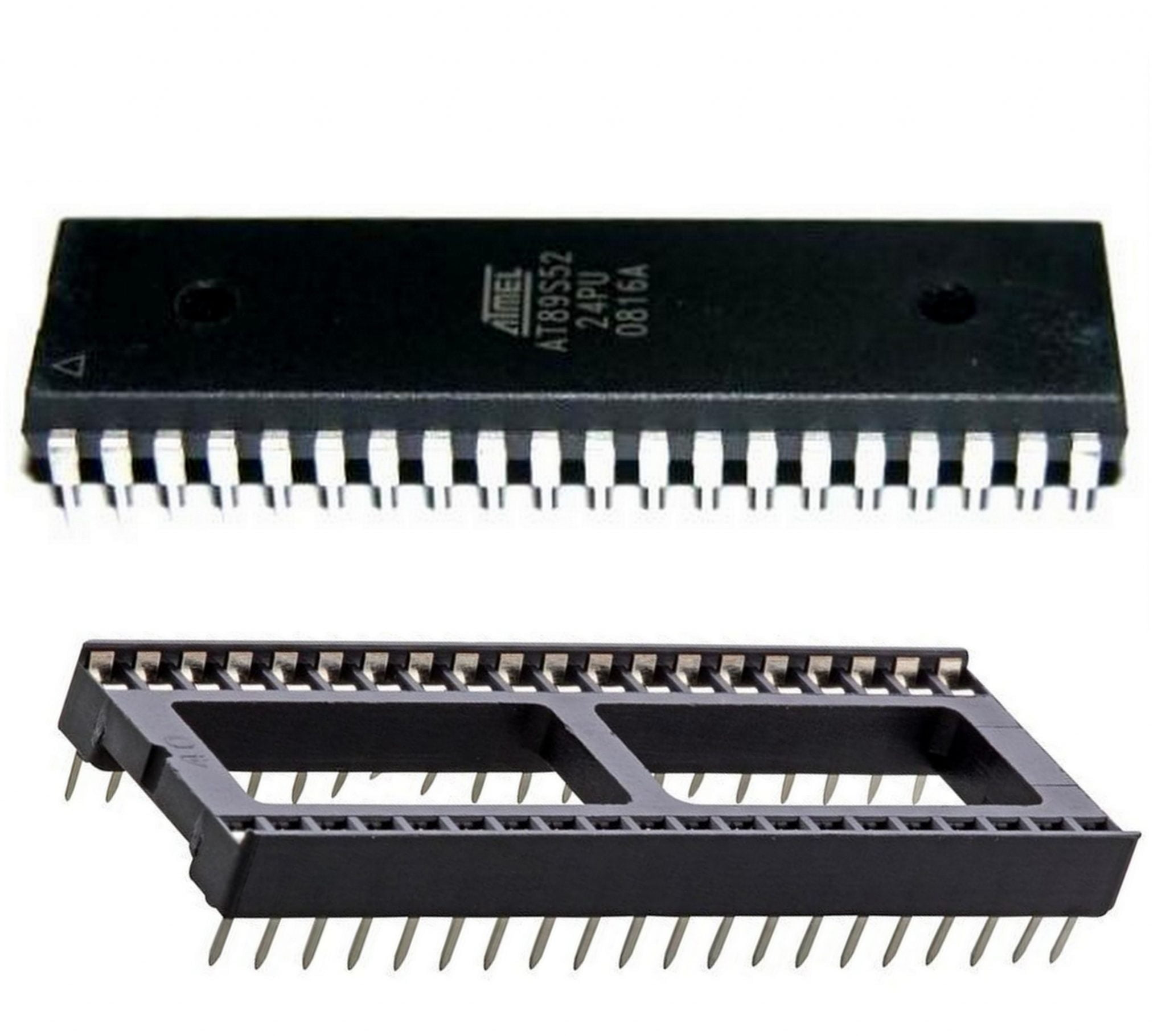 40 Pin Ic Base 40pin Socket Dip Package With 89s52 Chip 8051 Where To Buy Integrated Circuit Base40pin Is Use For