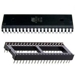 40 Pin ic Base,40pin ic Socket DIP Package with 89s52 ic is use for 8051 Microcontroller Development Kit Buy Online in India low cost DIP-40 Pin Base Socket www.mytechnocare.com MY TechnoCare