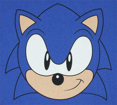 14658 sonic face sonic the hedgehog t shirt