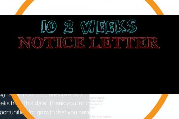 2 Weeks Notice Letter for Work Of 3 Highly Professional Two Weeks Notice Letter Templates