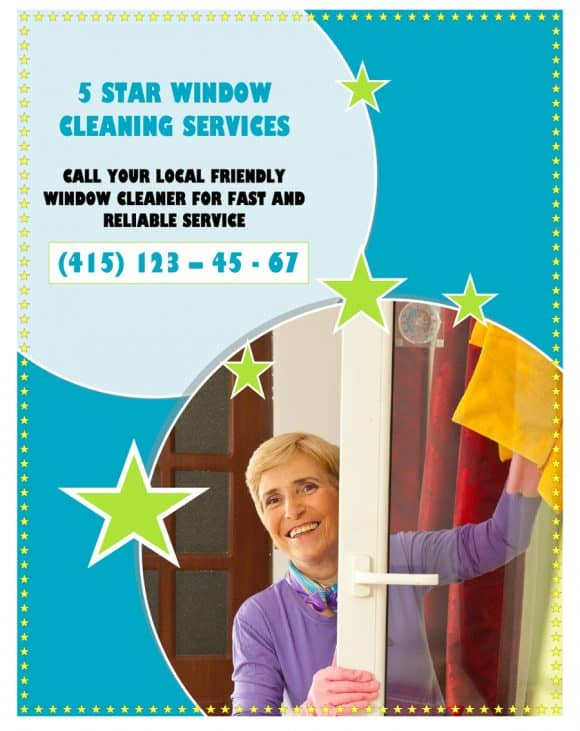 5 STAR WINDOW CLEANING FLYERS