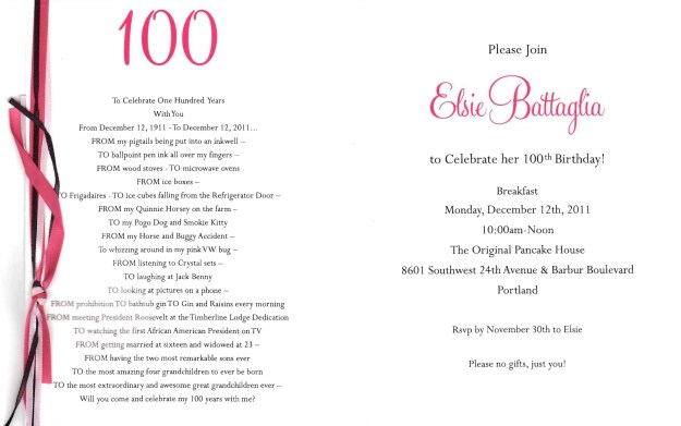 80th Birthday Party Program Template Of Pin by Cindy Vujea On 100th Birthday Party In 2019