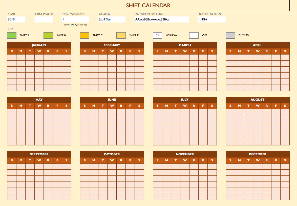 Blank Work Schedule Template In Excel Free Templates