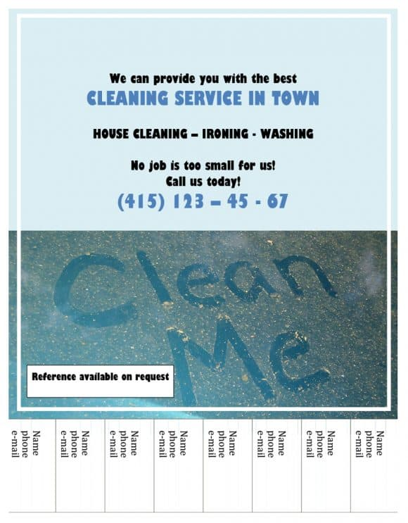CLEANING FLYERS SERVICE IN TOWN