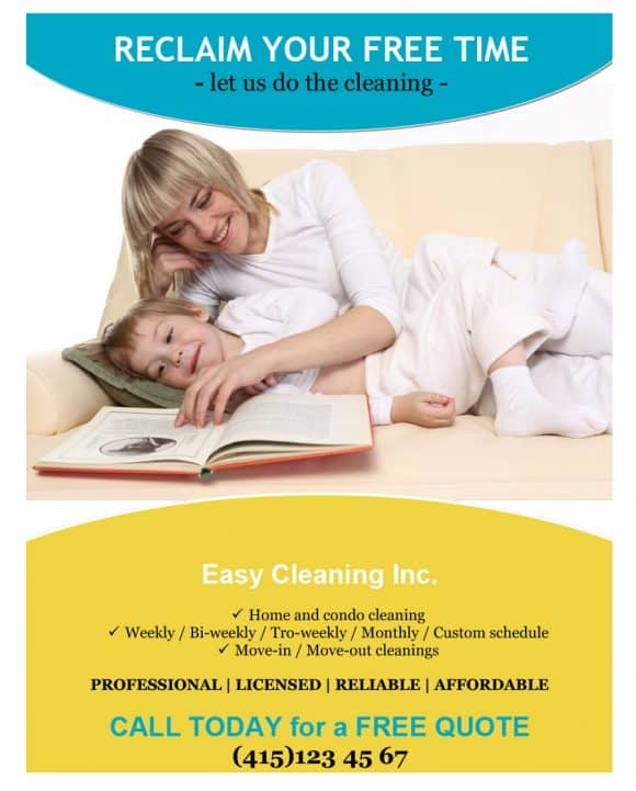 EASY CLEANING FLYERS
