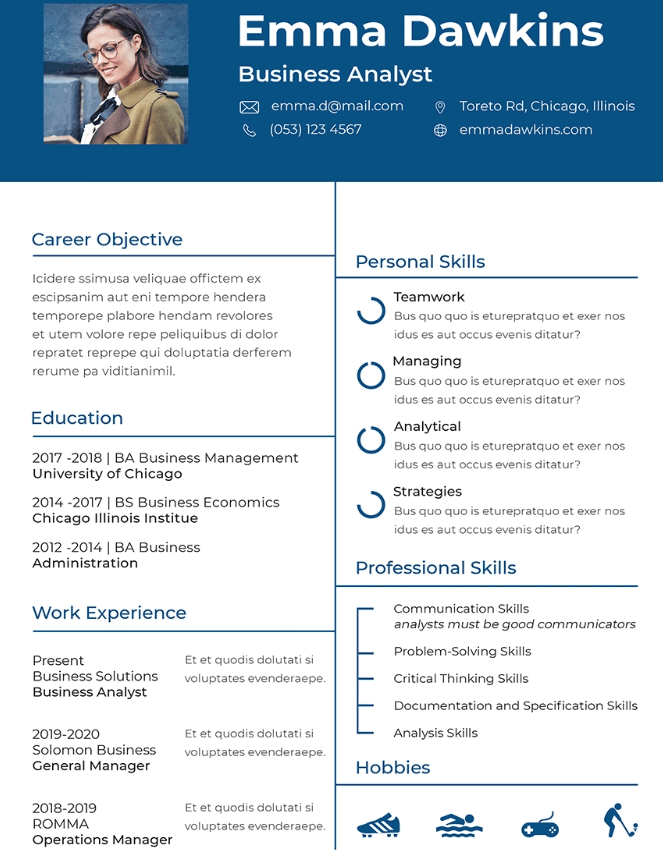 Free Basic Analyst Resume Template