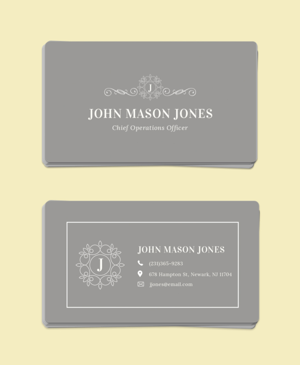 Free Elegant Business Card Template
