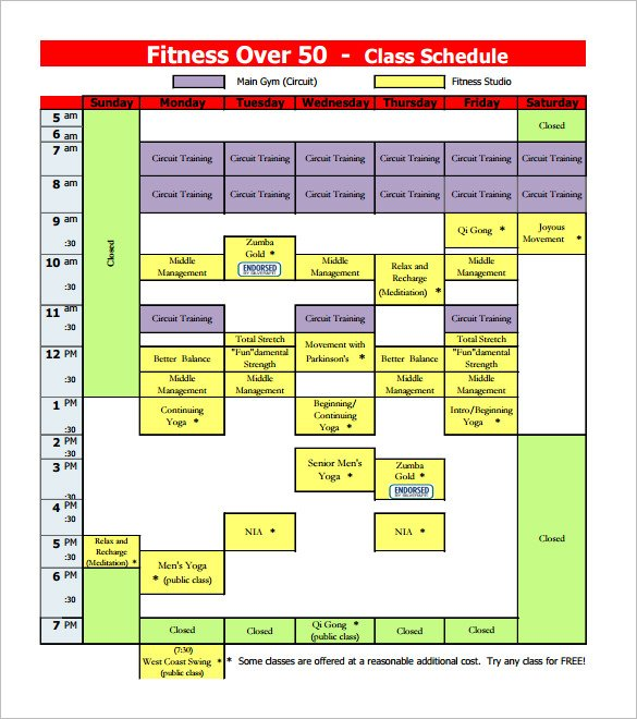 10 Free Class Schedule Templates Download Word Excel Pdf Free Templates