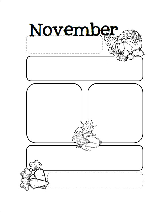 Free Preschool Newsletter for November
