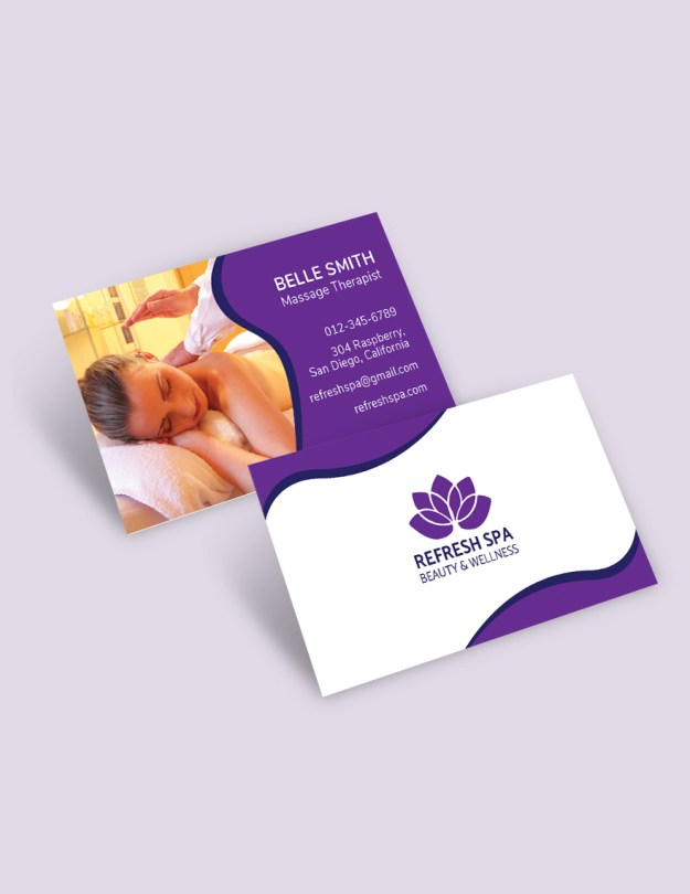 Free Spa Center Business Card Template