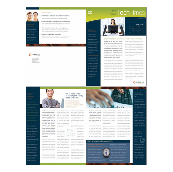 Free Word Business Newsletter Template