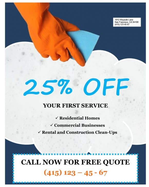 GRAPICH CLEANING SERVICE FLYERS