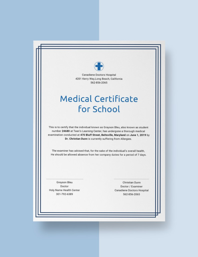 10 Medical Certificate Templates Free Templates
