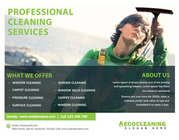 PROFESIONAL CLEANING FLYERS