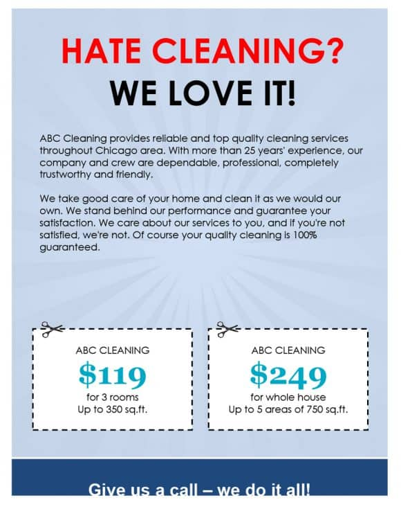 PROMO CLEANING BUSINESS FLYERS