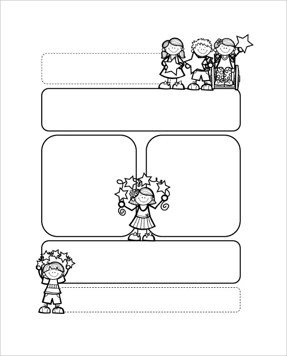 Preschool Newsletter Template for Children