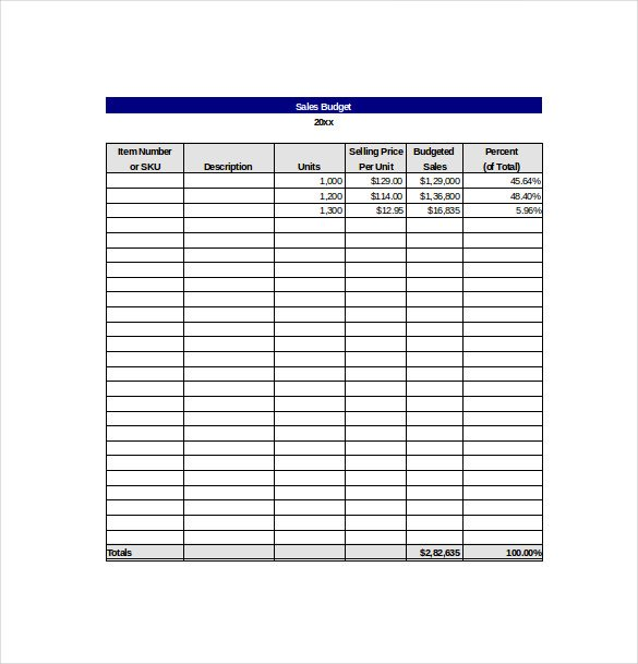 Sales Goal Tracking Template Free Excel Format