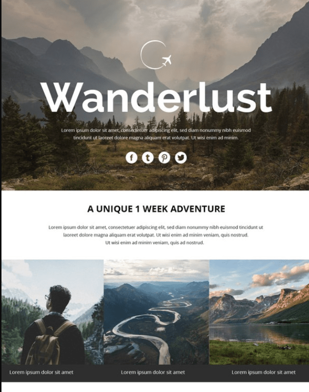 Travel Email Newsletter Template