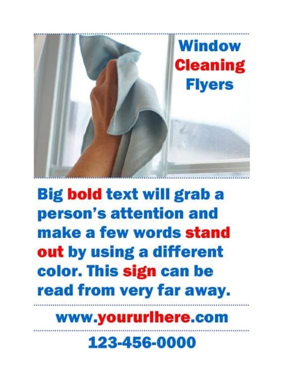 WINDOW CLEANING BUSINESS FLYERS
