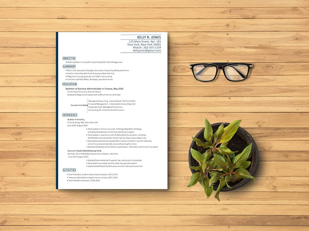 Free Accounting Resume Template with Clean and Simple Look