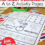 Alphabet Worksheets Activities Of Alphabet Worksheets Activity Pages From A to Z