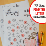 """Alphabet Worksheets for toddlers Of Free """"find the Letter"""" Alphabet Worksheets the Measured Mom"""