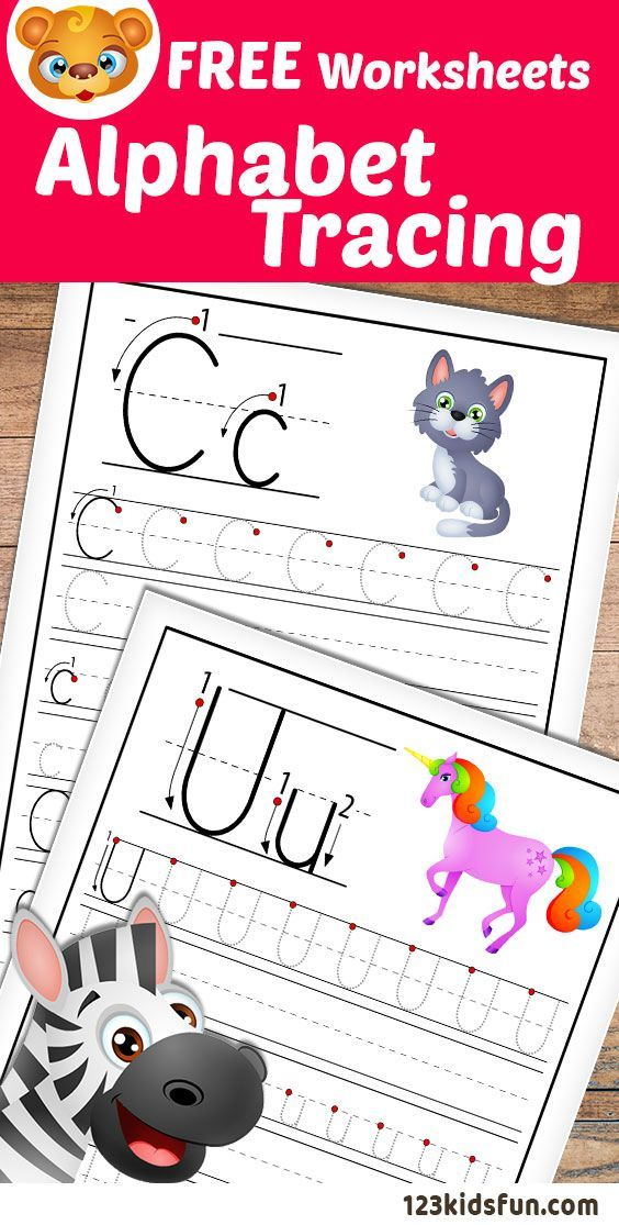 Alphabet Tracing Worksheets A Z free Printable for Kids
