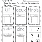 Alphabet Worksheets French Of Free Printable French Numbers Worksheet for Kindergarten