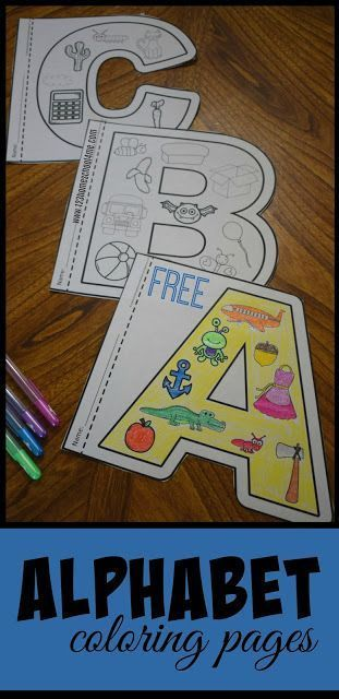 FREE Alphabet Coloring Pages this are such fun to color alphabet worksheets that help kids not only learn their letters but the sounds they make You can use them with a letter of the week curriculum as anchor charte summer learning alphabet posters or pile into a fun to read alphabet book for preschool prek or kindergarten alphabet kindergarten preschool