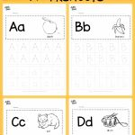 Alphabet Worksheets Learning Of Download Free Alphabet Tracing Worksheets for Letter A to Z Suitable for Preschool Pre K or Kindergarten Class there are Two Layouts Available Tracing with Lines or Free form Tracing with Boxes Visit Us at for More Preschool Activities