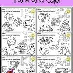 Alphabet Worksheets Learning Of Free Alphabet Trace and Color