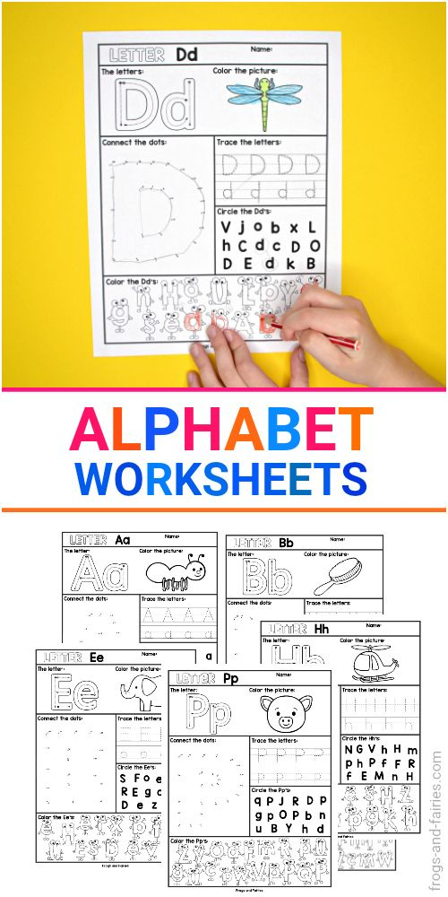 These fun and engaging NO PREP alphabet worksheets are great for practicing letter recognition Each letter page includes five different activities for your kids to learn about upper and lower case letters Your kids will connect the dots trace the letters color the pictures and more alphabet letterrecognition worksheets printablesforkids preschool literacycenters letters