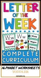 Alphabet Worksheets toddler Of Letter Of the Week A Z Letter Of the Day A Z