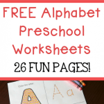 Alphabet Worksheets with Words Of Free Alphabet Preschool Printable Worksheets to Learn the Alphabet