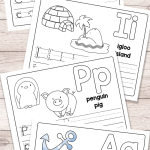 Alphabet Worksheets with Words Of Free Printable Alphabet Book Alphabet Worksheets for Pre K and K Easy Peasy Learners