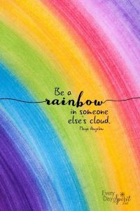 Best Job Portals In Usa Of Be A Rainbow Print Every Day Spirit Inspirational Wall Art Dorm Decor Encouraging Quote Uplifting Wall Art Maya Angelou