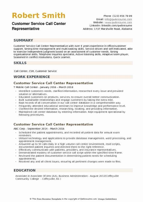 Guest Service Representative Resume Best Customer Service Call Center Representative Resume Samples