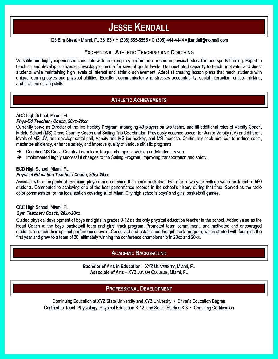 nice Making Simple College Golf Resume with Basic but Effective Information