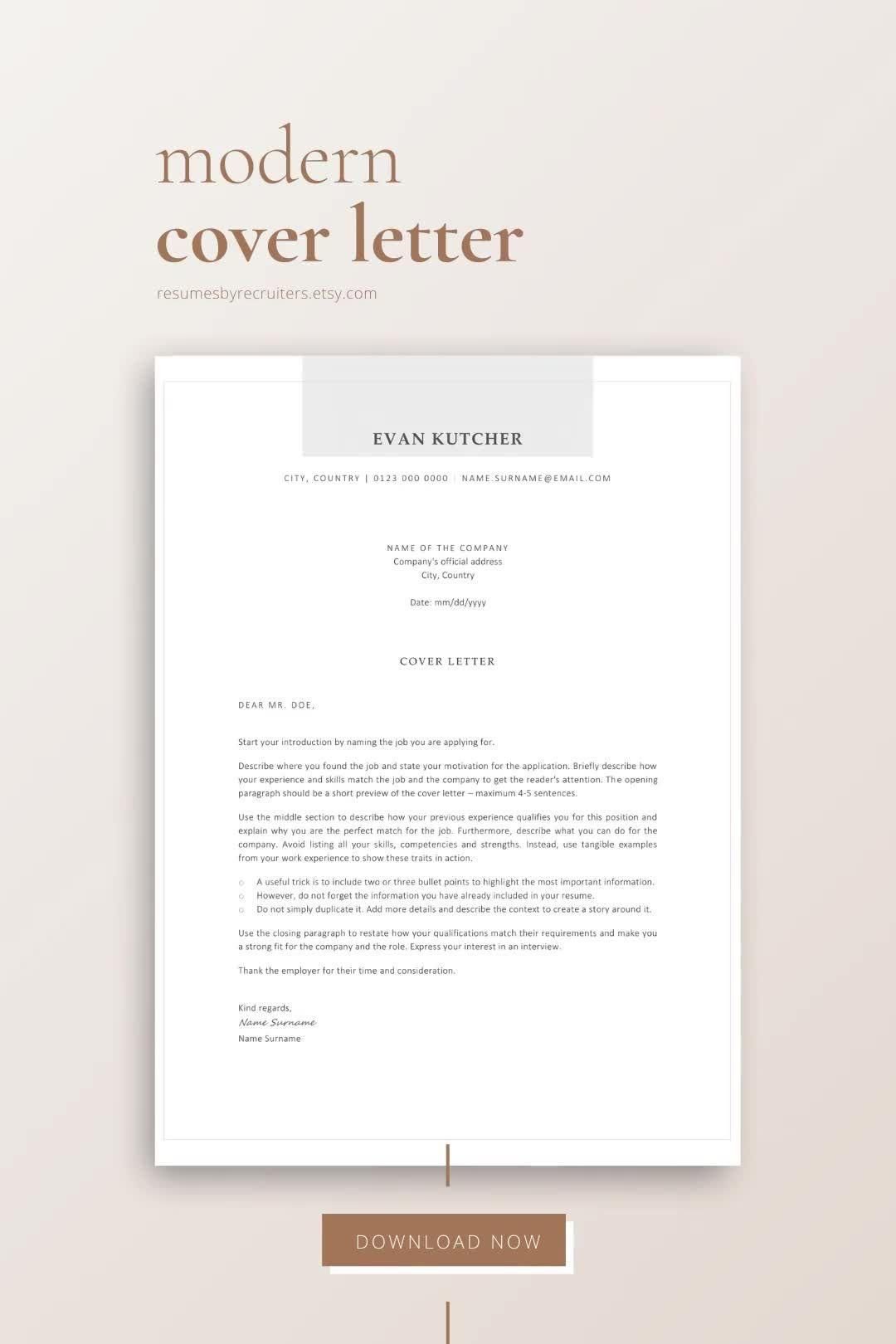 Cover Letter Template with Professional and Modern Templates for a Successful Job Search