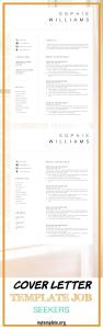 Cover Letter Template Job Seekers Of New Cv Template Resume Template Minimalist Professional Cv Design Resume Template Instant Download Word