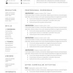 Cover Letter Template Layout Free Resume Of Resume Template Cv