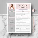 Cover Letter Template Simple Professional Resume Of R39 Madison Parker Creative & Modern Resume Cv Template for Word & Pages